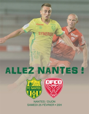 fc nantes dijon fco championnat football professionnel stade de la beaujoire nantes. Black Bedroom Furniture Sets. Home Design Ideas